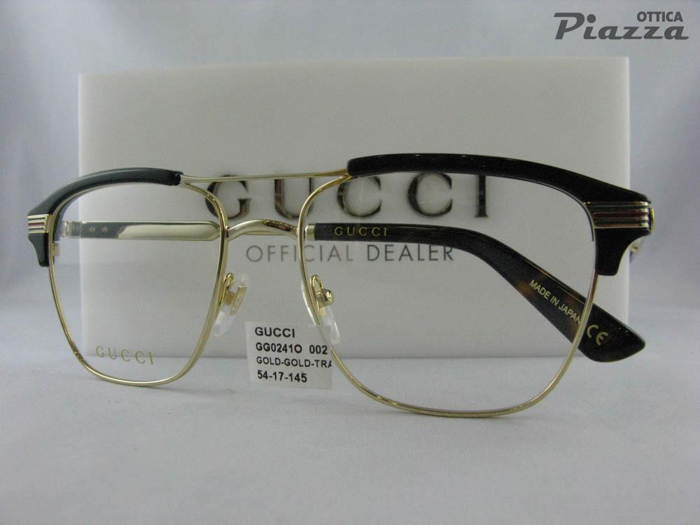 stile moderno comprare popolare in arrivo occhiali da vista Gucci GG0241o 002 - 222,00 € : Piazza San ...