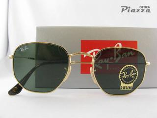 Occhiali da sole ray Ban 3548N 001 Hexagonal 8053672611632